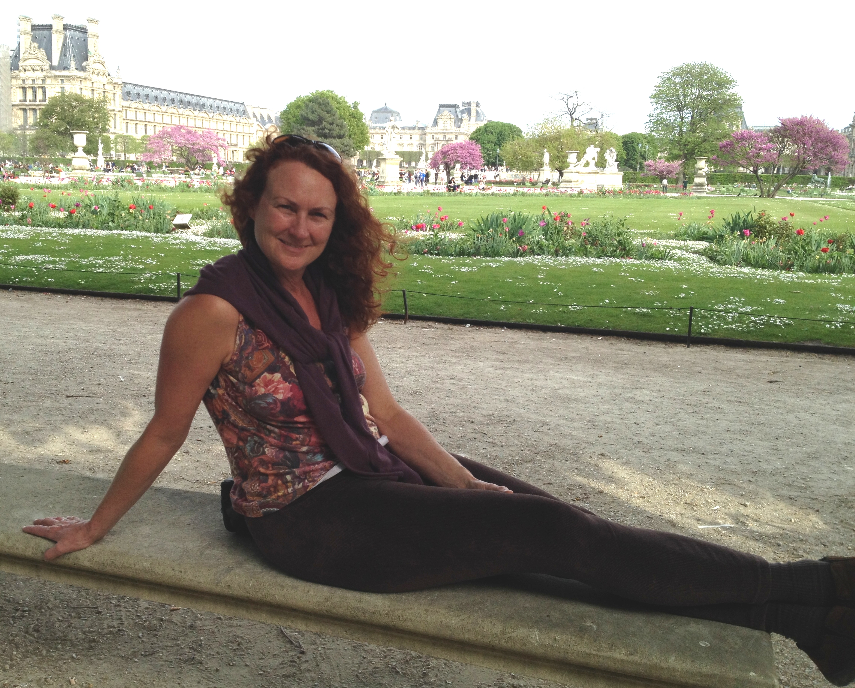 An American Mermaid in Paris - at the Tuilleries