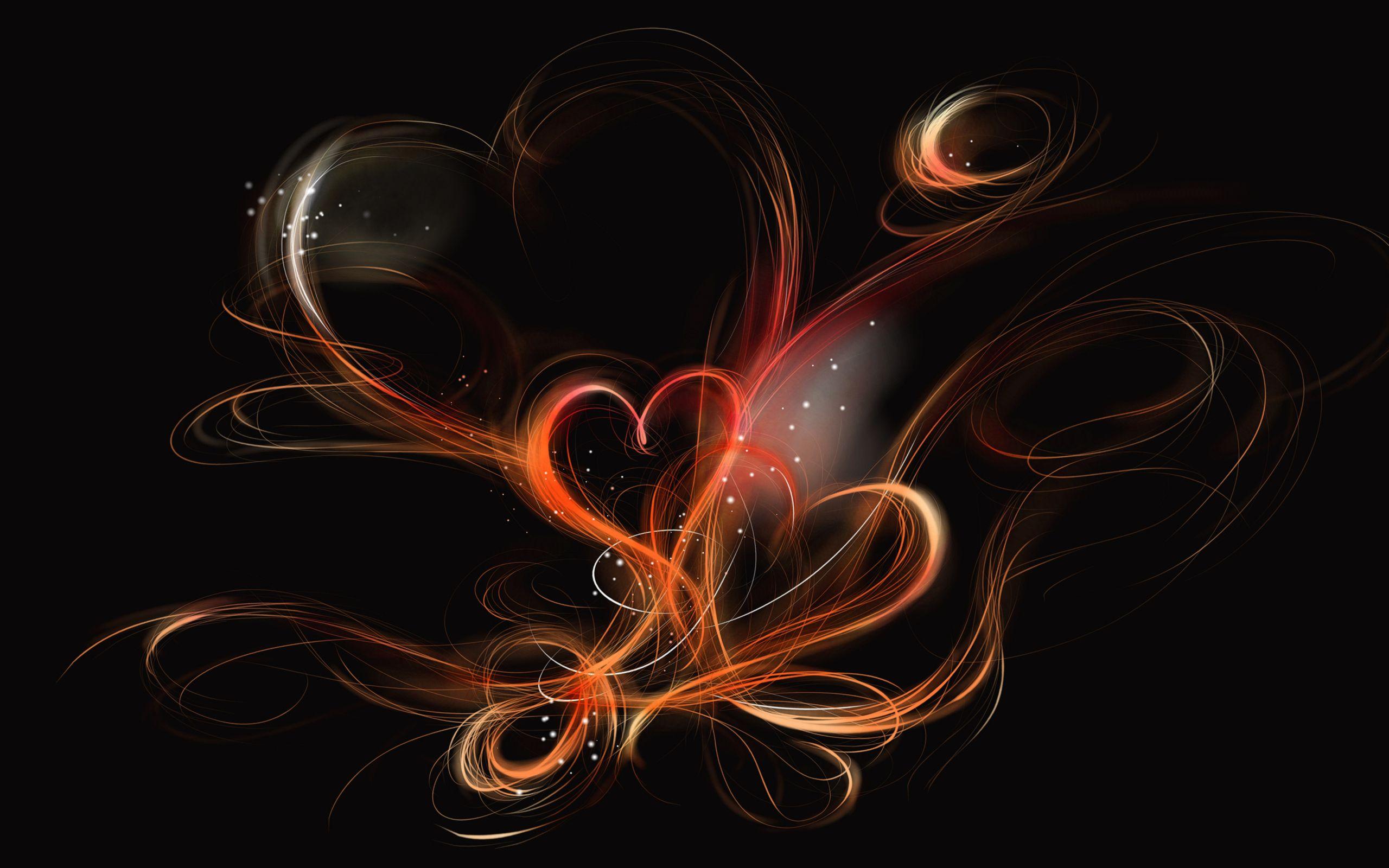 orange heart ribbons