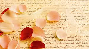 heart petals on letter